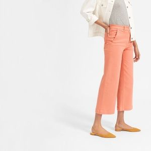 Everlane Coral Wide Leg Cropped Pants Size 2